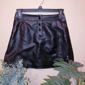 H & M Black Leather Skirt ♡